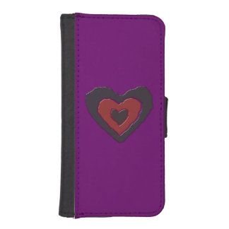 Gothic Melting Love Heart iPhone Wallet Case