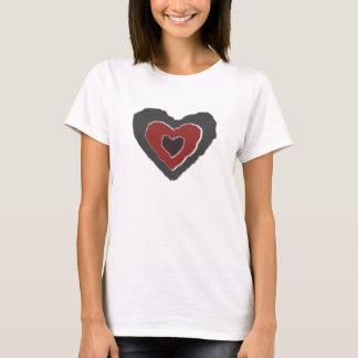 Gothic Melting Love Heart Ladies T Shirt