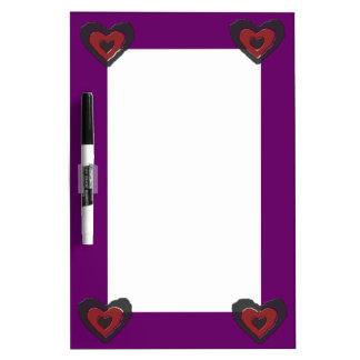 Gothic Melting Love Heart Memo Board Dry-Erase Whiteboards