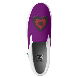 Gothic Melting Love Heart Slip On Shoes