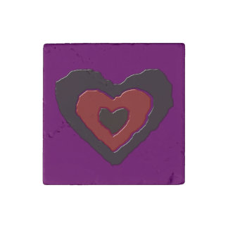 Gothic Melting Love Heart Stone Magnet
