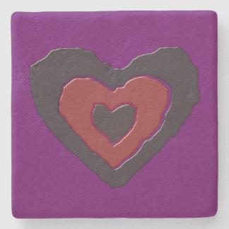 Gothic Melting Love Heartl Stone Coaster