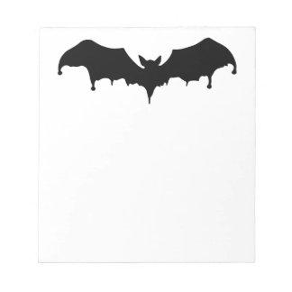 Gothic Melting Vampire Bat Notepad