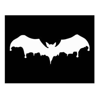 Gothic Melting Vampire Bat Postcard
