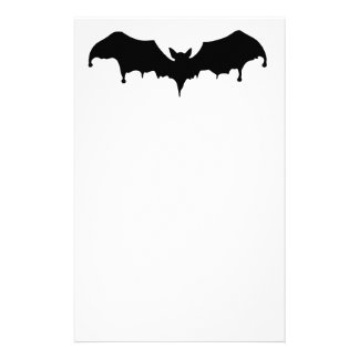 Gothic Melting Vampire Bat Stationery
