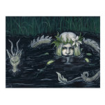 Gothic Mermaid and Dragon Swamp Postcard