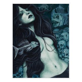 Gothic Mermaid Postcard