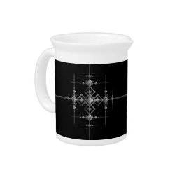 Gothic metallic pattern. beverage pitcher
