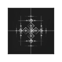 Gothic metallic pattern. canvas print