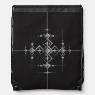 Gothic metallic pattern. drawstring bag
