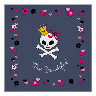 Gothic miss beatiful poster