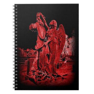 Gothic Neon Angel Notebook