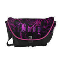 Gothic Neon Purple Baby Girl Custom Diaper Bag
