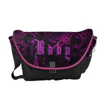 Gothic Neon Purple Baby Girl Custom Diaper Bag