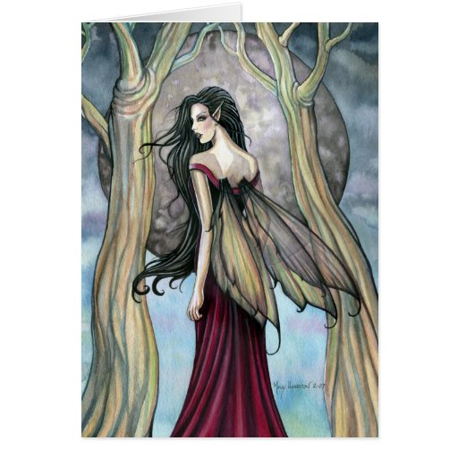 Gothic Night Fairy Card, Notecard