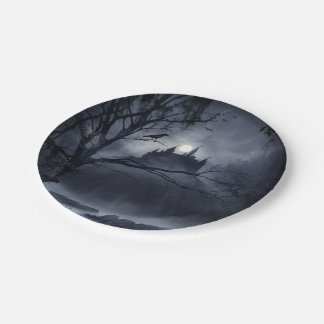 Gothic Night Fantasy 7 Inch Paper Plate