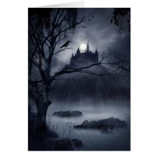 Gothic Night Fantasy Greeting Card