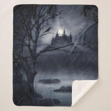 Gothic Night Fantasy Medium Sherpa Fleece Blanket