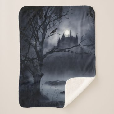 Halloween Themed Gothic Night Fantasy Small Sherpa Fleece Blanket