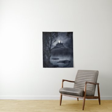 Halloween Themed Gothic Night Fantasy Small Wall Tapestry