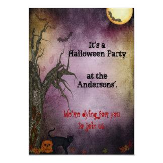 Gothic Night Sky Halloween Party Invitation