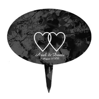 Gothic Nightfall Floral Wedding Handfasting Suite Cake Topper