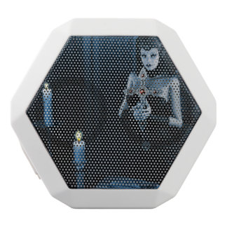 Gothic Nun holding a cross White Bluetooth Speaker