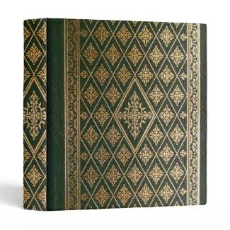 Gothic Old Green Leather Book Vinyl Binder