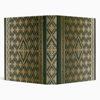 Gothic Old Green Leather Book Vinyl Binder