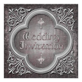 Gothic or Medieval Wedding Invitation