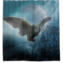 Gothic Owl Shower Curtain