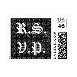 Gothic pattern  R.S.V.P. postage stamps