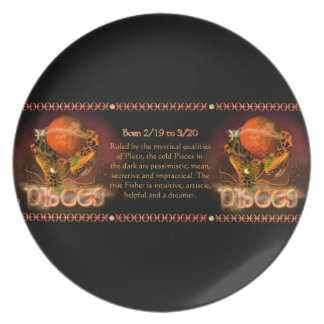 Gothic Pisces zodiac astrology by Valxart.com Dinner Plates