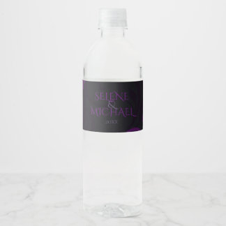 Gothic Plum, Ornate Water Bottle Label