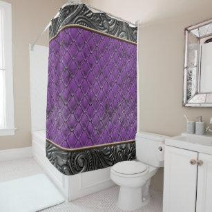 Gothic Plum Shower Curtain