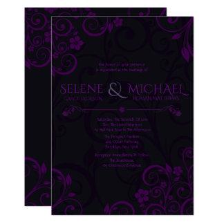 Gothic Plum Wedding Invitations