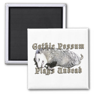 Gothic Possum Plays Undead Fridge Magnets