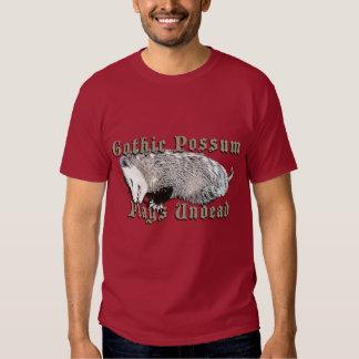 Gothic Possum Plays Undead T Shirt