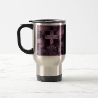 Gothic pretty purple tombstone customizable mug
