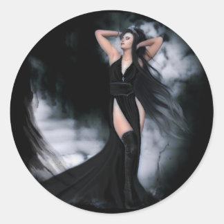 Gothic Princess Classic Round Sticker