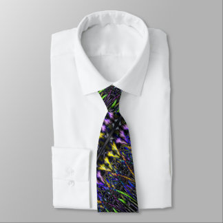 Gothic Psychedelic Stained Glass Warlock Witchy Neck Tie