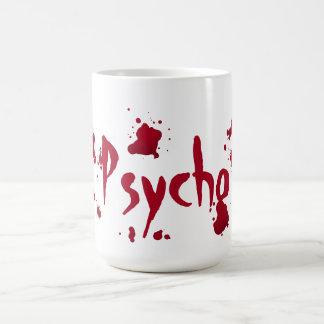 Gothic psycho blood splatters coffee mug