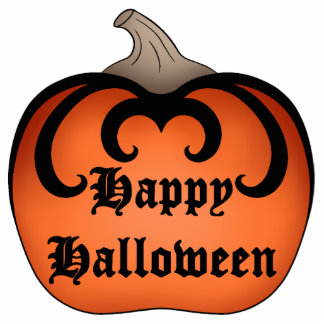 Gothic pumpkin Autumn Happy Halloween Statuette