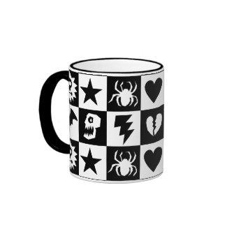 Gothic Punk Checkers mug