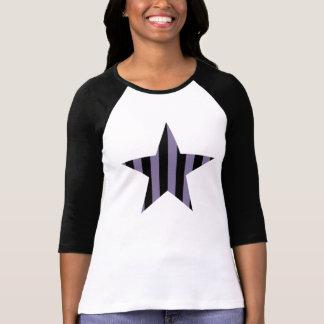 Gothic punk striped star T-Shirt