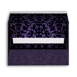 Gothic purple abstract envelope