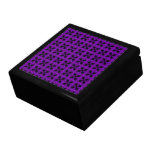 Gothic Purple and Black Pattern Gift Boxes
