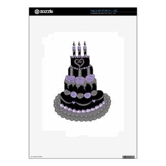 Gothic Purple Birthday Cake iPad 2 Skin