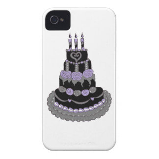 Gothic Purple Birthday Cake iPhone 4 Cover