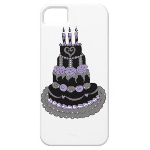 Gothic Purple Birthday Cake iPhone 5 Case